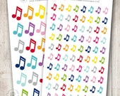 Music Notes, Set of 30 or 80 - Perfect for Erin Condren, Limelife, Mambi and Plum Paper Planners