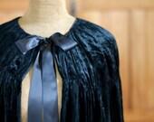 Vintage Silk Velvet Opera Cape