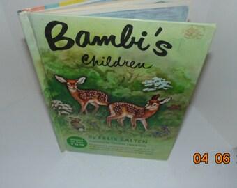 Vintage 1950 BAMBI's Children Felix Salten Phoebe Erickson Illustrated HB
