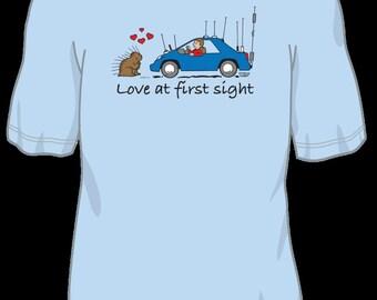 Love At First Sight, Porcupine Love Ham Radio T shirt