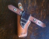 1970s Bianchi Leather and Suede Holster for Smith & Wesson K #5B with Belt Strap