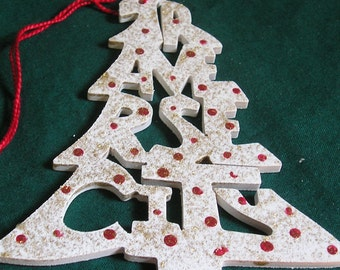 Traverse City, handcrafted tree shaped ornament