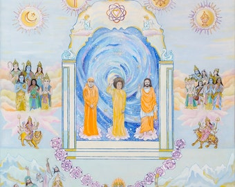 Lord of the Universe Sathya Sai Baba Giclee prints