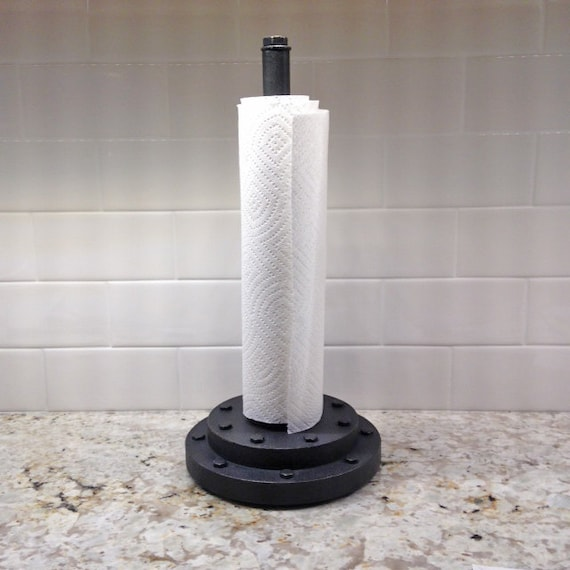 items similar to countertop vintage industrial style paper towel holder heavy duty on etsy. Black Bedroom Furniture Sets. Home Design Ideas