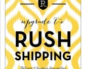 RUSH Shipping for can cooler order, delivery 2 business days earlier, rush shipping