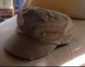 Khaki distressed cadet hat