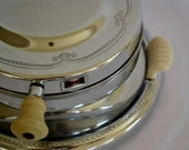 GE Art Deco Waffle Maker with White Side Handles 1937