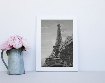 Eiffel Tower Paris  Print - Paris photography, Carousel print, ready to hang canvas