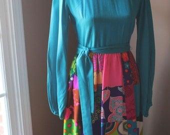Vintage 60s Colorful Maxi Dress by Krist
