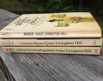 Grace Livingston Hill Romance Books, Vintage Paperbacks Set of 3