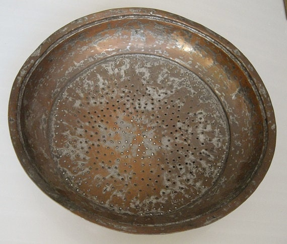 Vintage Gold Mining Pan Copper Gold Panning Sifter Rustic