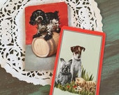 6 Swap Cards Dogs / Vintage Dog Cards for Mixed Media, Altered Art, Junk Journals, Collage, etc.