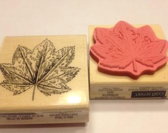 large leaf rubber stamp, 45 mm (SB2)
