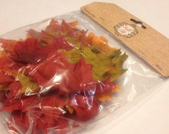 28 piece fabric leaf mix, 75 mm ,5249 (BR)