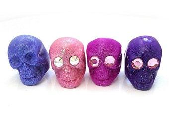 RESERVED FOR HEIDI Pastel Goth Creepy Cute Skull Ring