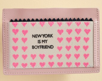 new york is my boyfriend credit card wallet