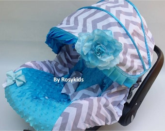 Baby Car Seat Cover Canopy, Infant Car Seat Cover Canopy, for baby Girl or baby Boy, fit most Infant car seat, 15% off