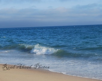 8 x 10 matted photo, Huntington Beach waves photograph