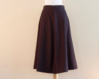 Purple nubby skirt - great A-line