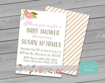 Baby Shower Invitation/ Wedding/ Bridal Shower