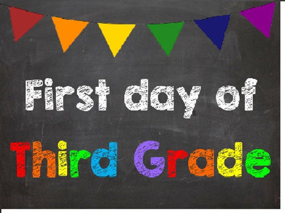 It is a graphic of Transformative First Day of 3rd Grade Printable