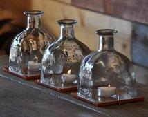 Patron Bottle Hurricane Lamp - Table Centerpiece