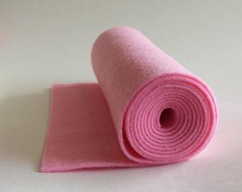 SALE 5x36 Cotton Candy Pink Wool Blend Felt Roll