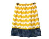 Reserve listing for Beth - Girl's chevron and polka dot skirt - yellow chevron and navy band skirt - girl's clothes - girl's fashion