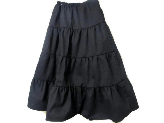 Girl's Black skirt Black Skirt Girls long skirt
