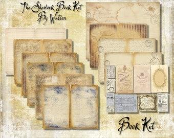 Digital Paper Pack The Sherlock Book by Watson downloadable printables