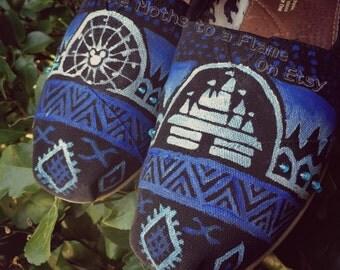 Disneyland Aztec Handpainted Custom Toms
