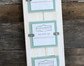 Picture Frame - Distressed Wood - Holds 3 - 4 x 4 Photos - White & Beach Teal