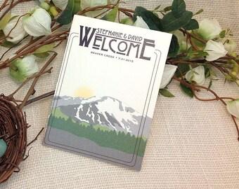 Colorado Mountains Wedding Weekend Welcome Booklet // Beaver Creek : Get Started Deposit