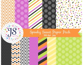 INSTANT DOWNLOAD, halloween digital paper pack for personal and commercial use