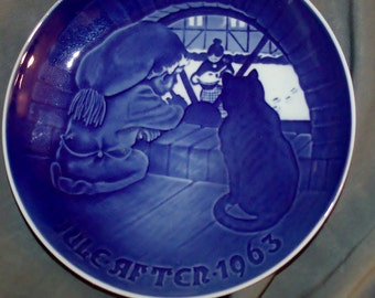 Antique Bing Grondhal Christmas Plate 1963