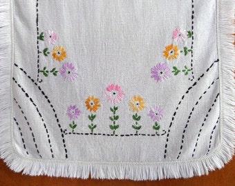 Vintage Embroidered Table Runner 2 Runners