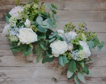 Boho Wedding Bouquet, Silk Wedding Bouquet - Wildflower Bouquet, Boho, Rustic Bouquet, Silk Bouquet, Silk Flower Bouquet, Wedding Bouquet