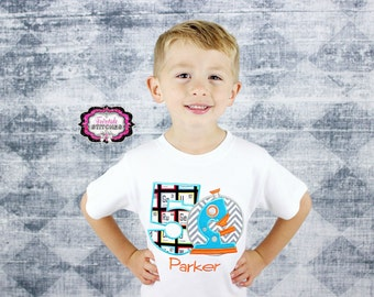 Microscope Shirt, Science Birthday, Microscope Birthday, Boy Birthday Shirt, Boy Birthday