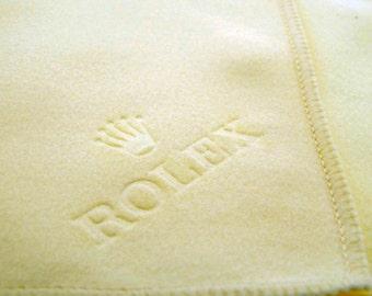 Genuine Rolex Watch Cleaning Polishing Cloth. NEW. White Cream.