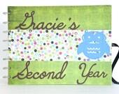 Personalized Baby Scrapbook Journal Album New Baby Gift Custom Name & Year
