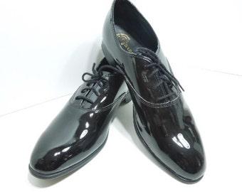 Men's Black Patent Shoes, Size 12M, Barclay 88507, Best Man, Groom, Wedding