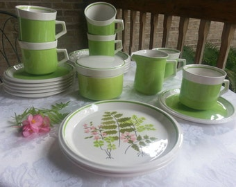 20 Piece Set of Mikasa Palmyra Light and Lively Tea Set or Luncheon Set Vintage 1974