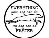 Greyhound Car Decal - Whippet Galgo Car Sticker