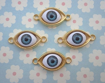 SALE 10 pcs Charms / eye charms / eye / eye findings / jewelry accessories