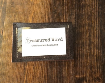 Leather Wallet for Scripture Memory Cards - TMS Original Size - one pocket