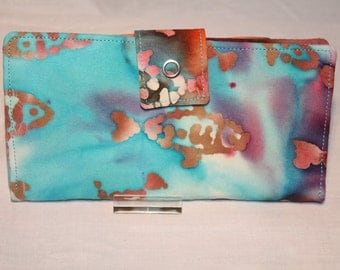 Tie-Dye Fish Purse