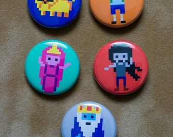 set of 5 Adventure Time Buttons