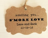 50  Sending You S'more Love Favor Tags