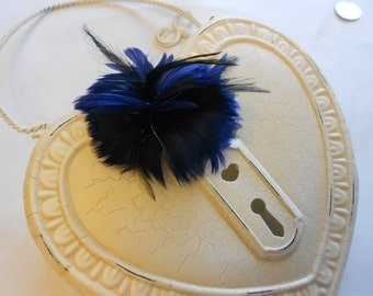 Blue feather flower 24-156