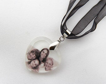 Crystal Heart Photo Necklace